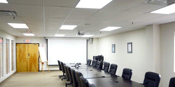 LED paneel verlichting serie Schelde in vergaderruimte