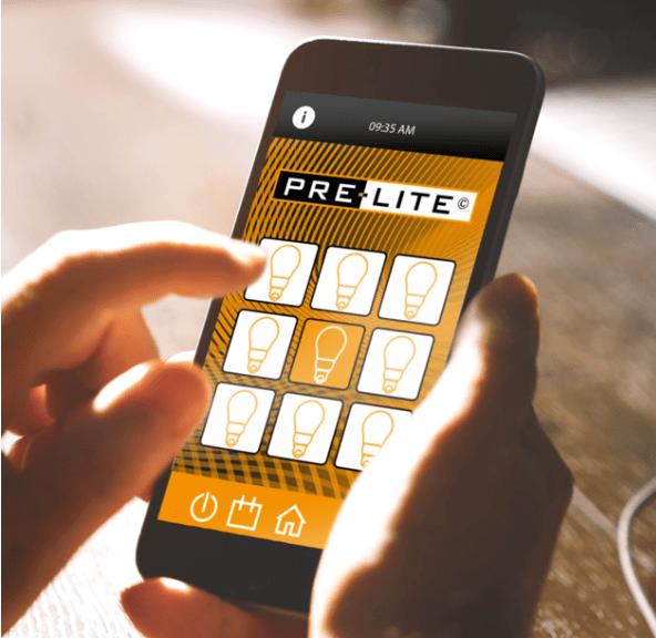 Pre-Lite Gebruiksvriendelijke lichtmanagementsysteem, middels een bedieningsapp voor een smartphone of computer.