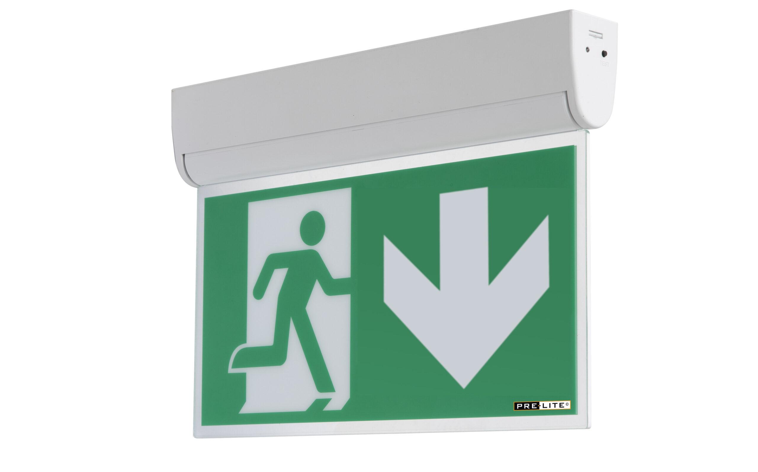 LED kantelbare noodverlichtingsarmatuur Dommel  rechtdoor
