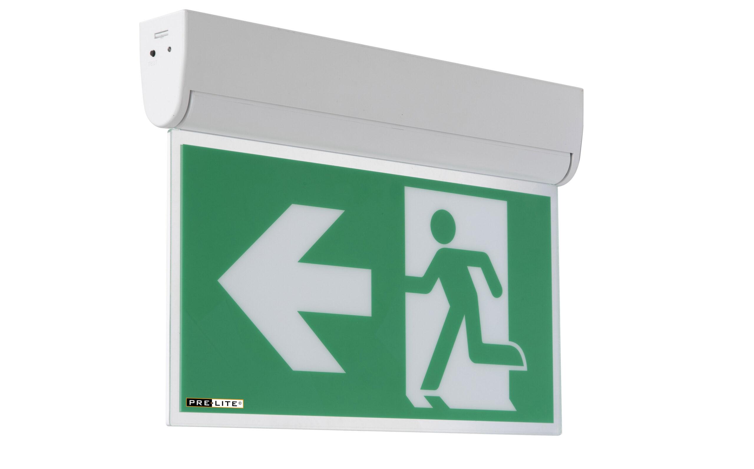 LED kantelbare noodverlichtingsarmatuur Dommel  links
