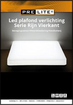 Download specificaties LED plafondverlichting serie Rijn Vierkant