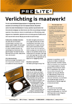 Download specificaties Verlichting Maatwerk
