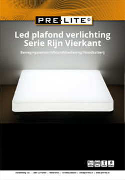 Download specificaties LED plafondverlichting serie Rijn Vierkant