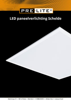 Download specificaties LED panelen serie Schelde