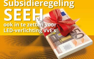 Subsidieregeling SEEH ook in te zetten voor LED-verlichting VvE's